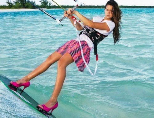 Kitesurfing and girls