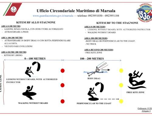 Kitesurf Stagnone regole di sicurezza Ordinanza Guardia Costiera